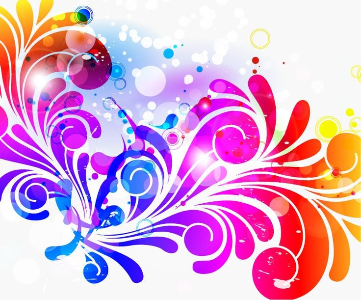 Abstract Design Colorful Background Vector Graphic | Free Vector ...