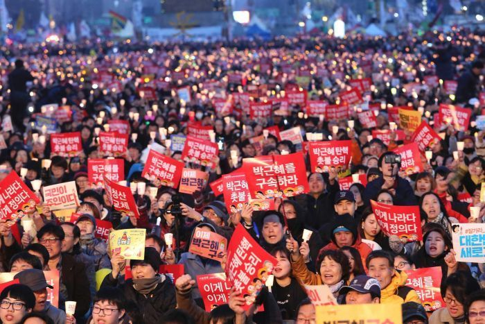 Vigil for impeached South Korean President