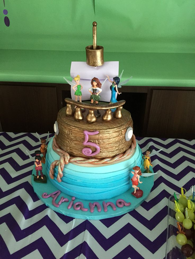 The Pirate Fairy Birthday Party Pirate Boat Cake                              …