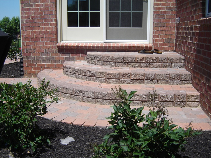 Best Backdoor Brick Paver Steps Steps And Stairs Pinterest 640 x 480