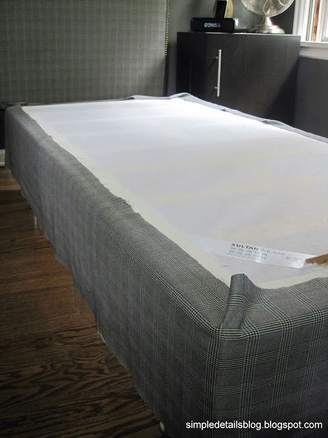 Great upholstered box spring tutorial