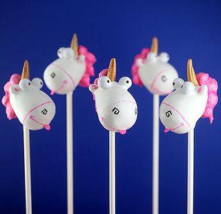Unicorn Cake Pops by Bakerella, via Flickr