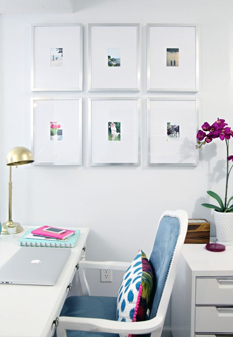 cheap IKEA frames- with custom mats made by cutting the size you ...