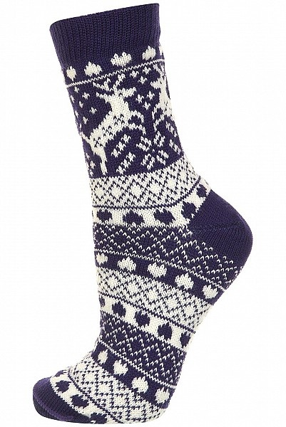 Purple Fairisle Socks by Topshop