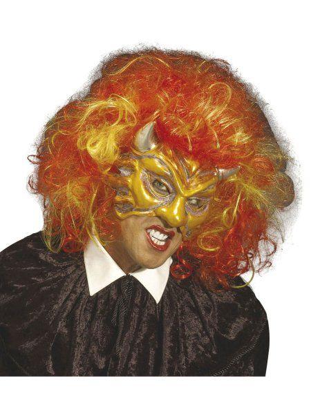 "https://11ter11ter.de/21541457.html Halloweenmaske ""Devil"" mit Perücke #11ter11ter #halloween #gruselig #creepy #mask #maske #fasching #karneval #accessoires"