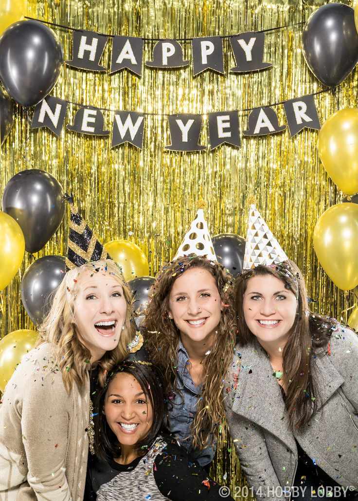 There's no such thing as too much sparkle on New Year's Eve! Make your own glitzy banner, invitations and party hats for an unforgettable celebration. We used glitter paper and cardstock for ours!