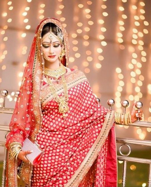 PHOTOGRAPHS OF BRIDES IN RED | Images of Bangladeshi Brides in Red Saree | Bridal Photography, Jewelry and Makeup Images