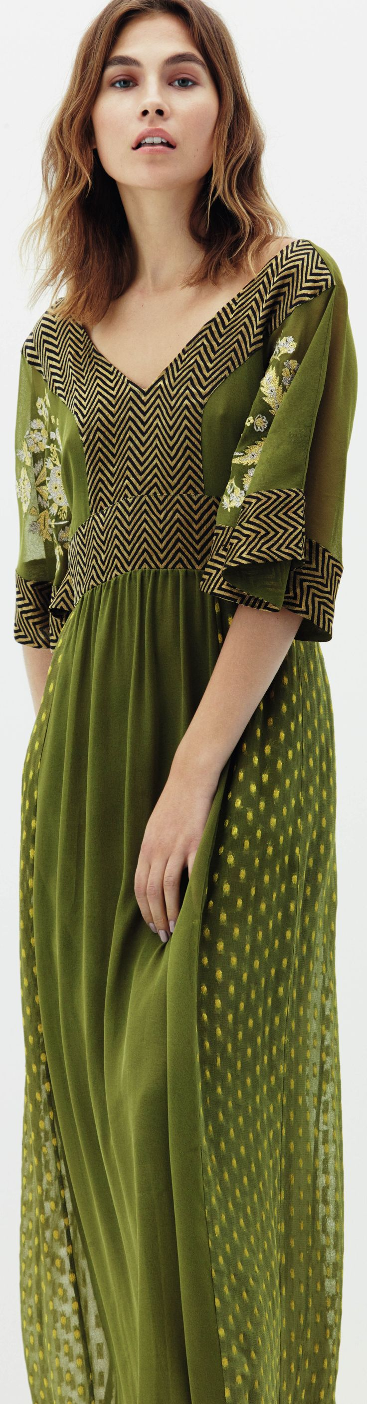 I'm grooving on this green dress for spring 2016. It's already on my wishlist. Read about fashion and more: http://www.boomerinas.com/2015/11/26/overcoming-writers-block-fashion-ennui-12-steps-to-cheer-up-older-women/
