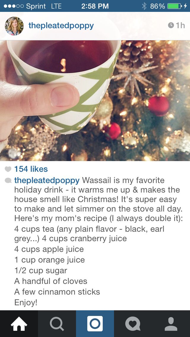 The Pleated Poppy: Wassail Recipe