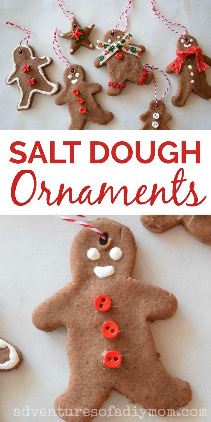 Salt Dough Gingerbread Ornaments Kids Christmas Craft Homemade Christmas Ornaments Diy Kids Christmas Ornaments Salt Dough Christmas Ornaments