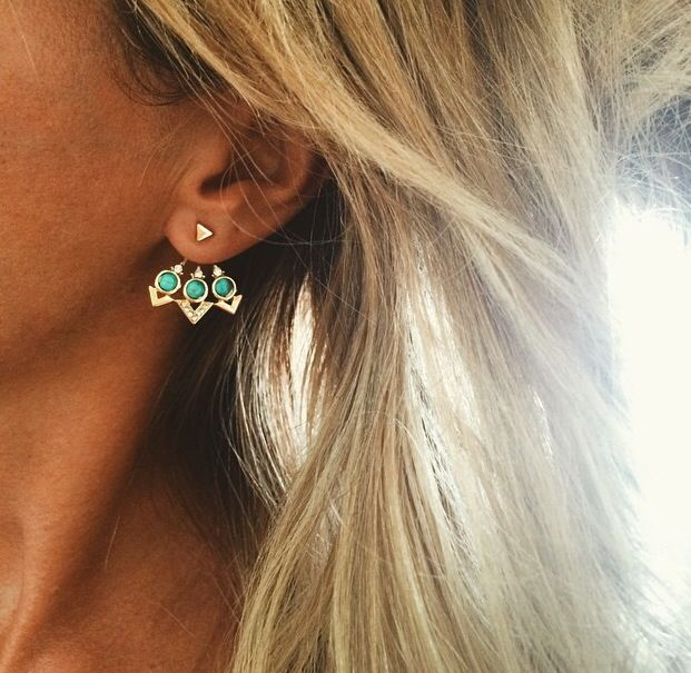 Currently obsessed with 'ear jackets'. So rad.