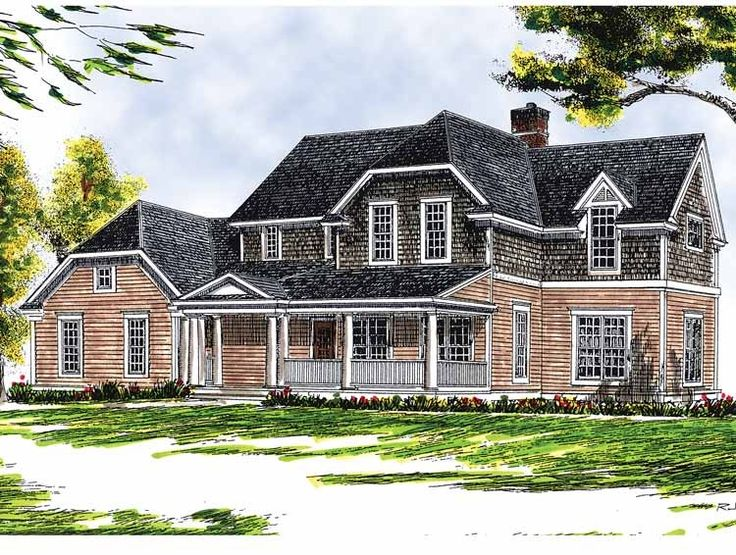Colonial country farmhouse plans