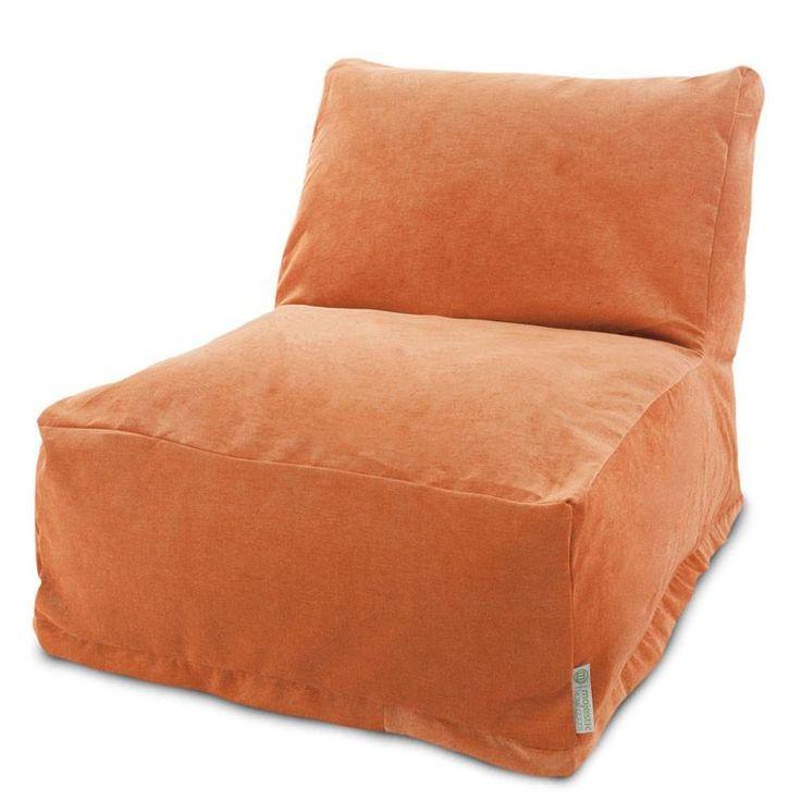 Majestic Home Goods 85907260324 Villa Orange Bean Bag Chair Lounger