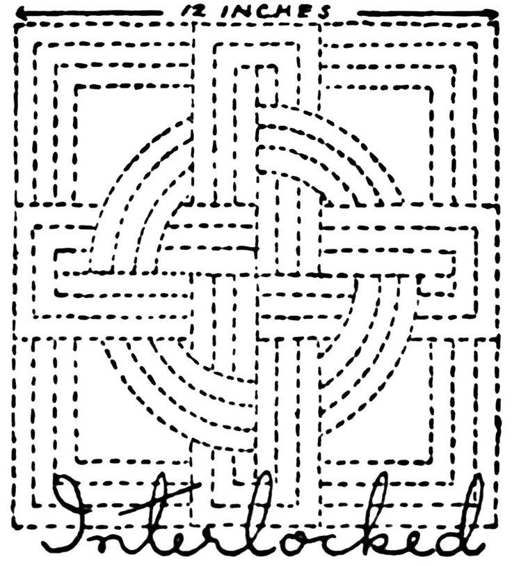 Hand Quilting Patterns:  Nancy-Page-Quilting-Design-Interlocked