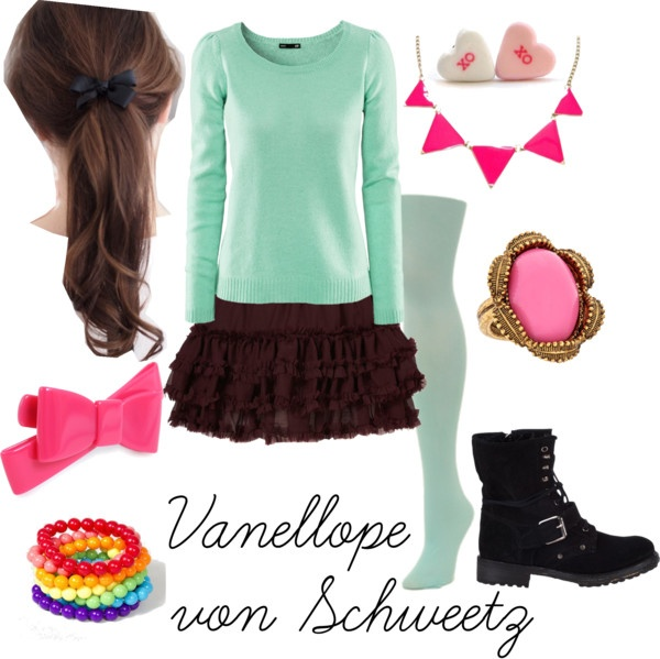 Vanellope von Schweetz DisneyBound. I might have to gather the items for this outfit- I just love her!