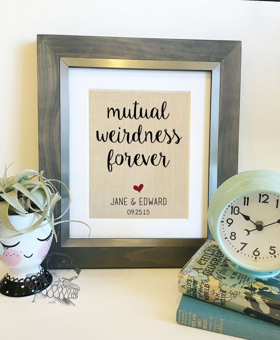 Customize With Your Wedding Vows By Theyellowdogpe On Etsy Linen Print 12 Year 4 Anniversary Gift For Husband