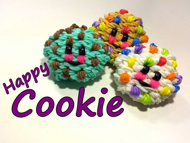 3-D Happy Cookie Tutorial by feelinspiffy (Rainbow Loom) Copyright© 2014@craftingfantastic