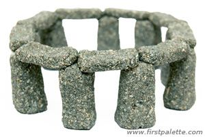 Miniature salt dough Stonehenge craft ~  includes recipe for Sand dough which they used to make this  :)