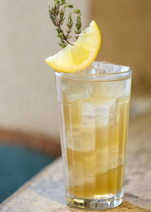 Lady Bee with Pineau des Charentes - next time, use champagne instead of white wine and club soda, and 1 oz of liquer