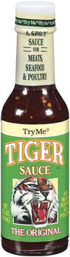 TryMe Tiger Sauce, The original tiger sauce is an exotic, moderately spicy blend of Ingredients in a cayenne pepper base. With a touch of sweet and sour, it's perfect for meats, seafood and poultry. Delicious on sandwiches, in dips and soups.