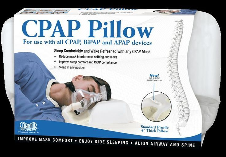 Contour CPAP Mask  Pillow 4'' inch Standard for Sleep Apnea 2 yr Warranty #Contour