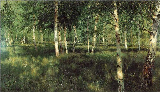 이사악 레비탄의 '자작나무숲'. 하얀 자작나무는 여성적인 속성으로, 남성을 상징하는 참나무와 함께 러시아를 대표하는 나무다. 러시아의 풍경화가인 이사악 레비탄은 차분하고 평화로운 그림을 많이 그렸다고 한다. 그림과 같은 실제 숲을 거닐면 평소의 고민이나 잡념은 잠시 사그라들고 정적인 고요가 찾아올 것만 같다.