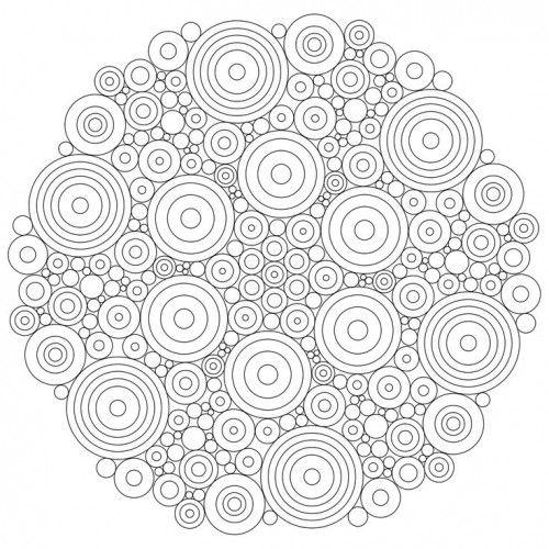mandala simple imprimer pour les adultes qui veulent se dstresser dans 11 coloriages de mandalas