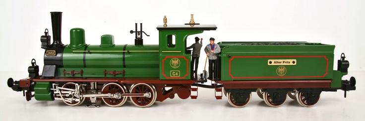 Marklin 54522 Maxi Alter Fritz Steam Locomotive left   åka ... Steam Train Side View