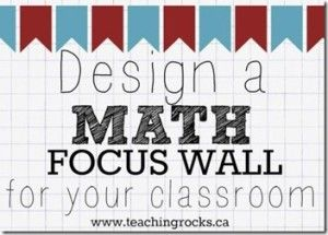 Here's a terrific post on designing a math focus wall for your classroom.