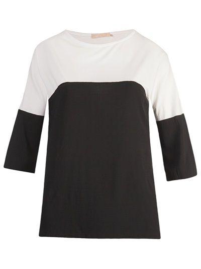 MOB Blusa Preta E Branca