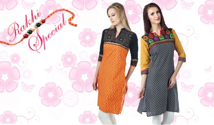 Buy a combo of 2 Shree Kurtis in just Rs.779   Order now to surprise your loving sisters this Raksha Bandhan.. Click to Know More http://hytrend.com/sale.html