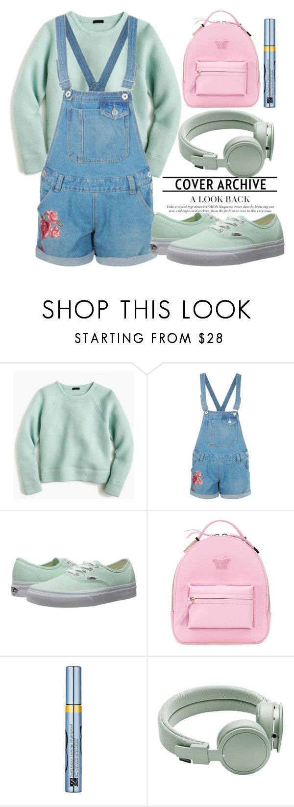 """""""265"""" by erohina-d ❤ liked on Polyvore featuring J.Crew, Boohoo, Vans, Versace, Estée Lauder and Urbanears"""
