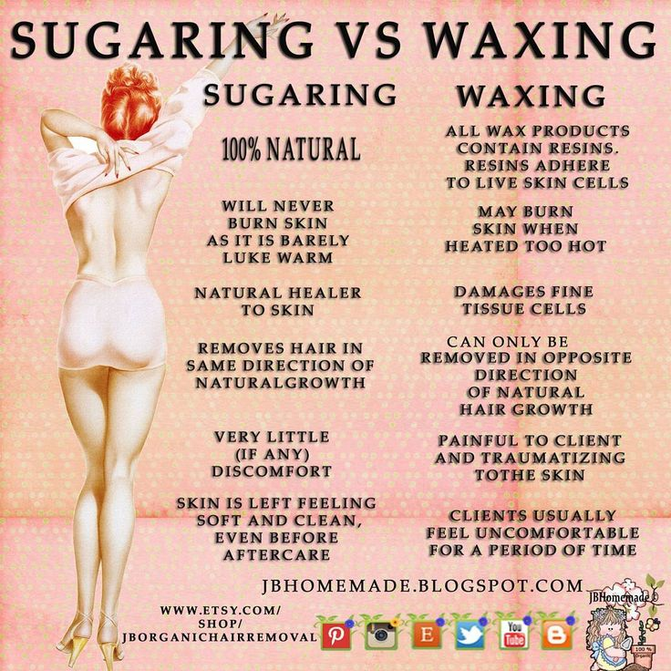 Compare sugaring with waxing: these are just a few of the differences. Organic #sugaring paste removes the hair by the follicle and also exfoliates your skin leaving your skin petal smooth lasting up to 2 weeks.