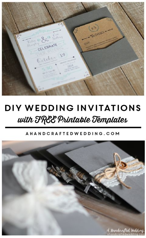 Download this FREE Wedding Invitation Template that you customize and print as many copies as you need! ahandcraftedwedding.com