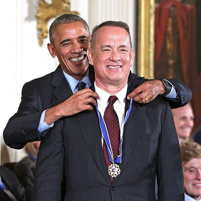 Yesterday @tomhanks received by ex American  President the Presidential Medal of Freedom. WOW