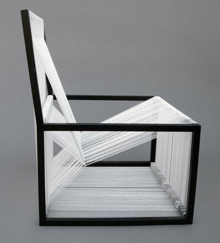 String black and white chair. Tanya Aguiringa