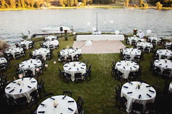 I just love this lakeside wedding Wheres the closest lake