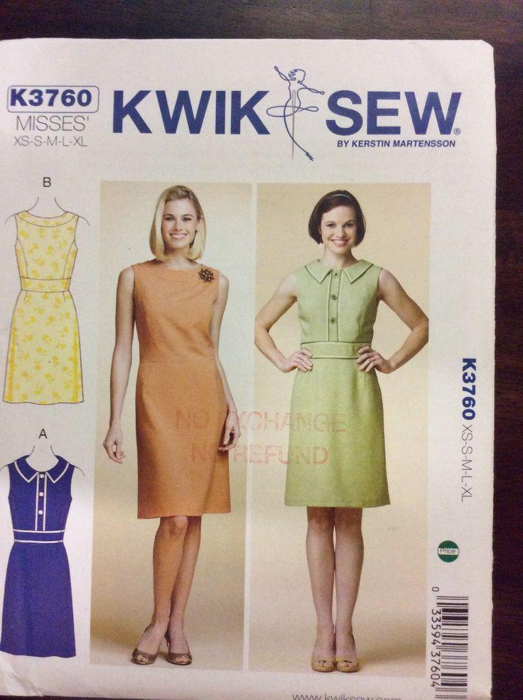 Kwik Sew 3760, Misses Dresses, XS - XL, (31.5 - 45), 2012