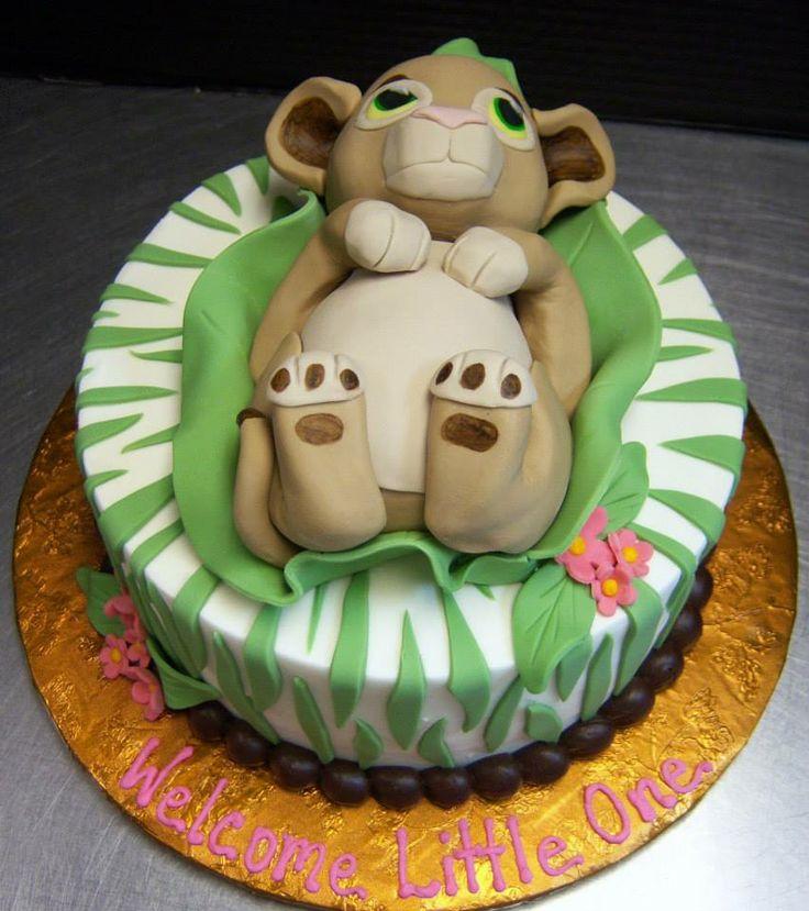 Lion King's Nala Baby Shower Cake by Tasty Layers Custom Cakes