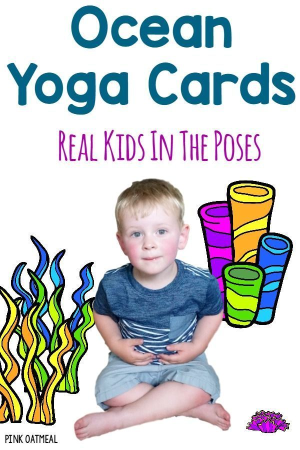 Yoga with an ocean theme.  The cards and printables have real kids in the poses!...