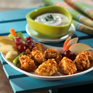 Serve kids these crunchy chicken nuggets for lunch.