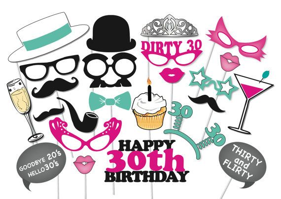 Hey, I found this really awesome Etsy listing at https://www.etsy.com/listing/187218148/30th-birthday-photobooth-party-props-set