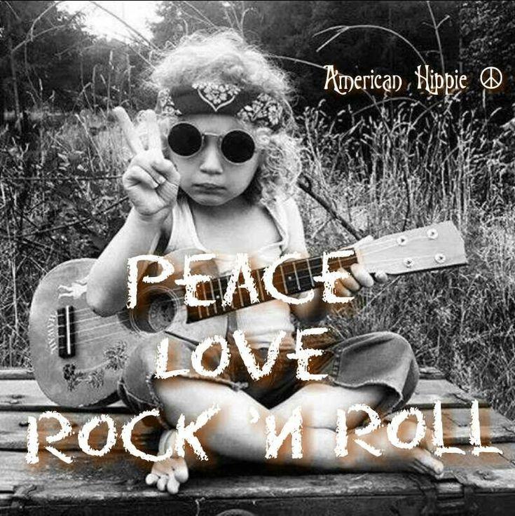 ☮ American Hippie ☮ Peace Love Rock 'n Roll