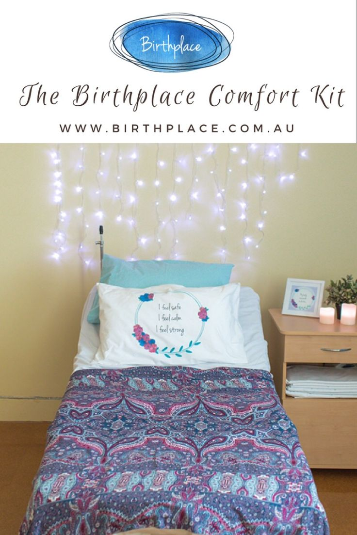 The Birthplace Comfort Kit was designed with help from birth professionals so is suitable for all kinds of birthing. Combining amazing fabrics and uplifting birth affirmations to transform a sterile looking hospital room. For more of our gorgeous products have a peek at  www.birthplace.com.au