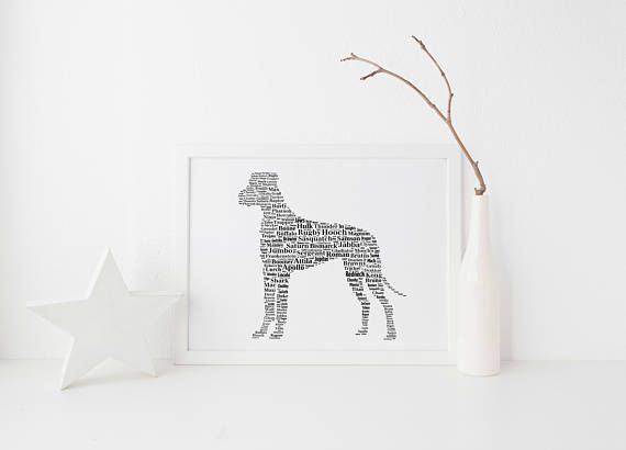 Great Dane Ears Down Custom Print FREE UK Postage Great Dane Gift