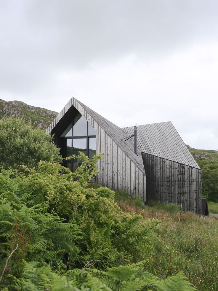 Contemporary rural architecture - black stained timber clad house on the west coast of Scotland by Raw Architecture Workshop.