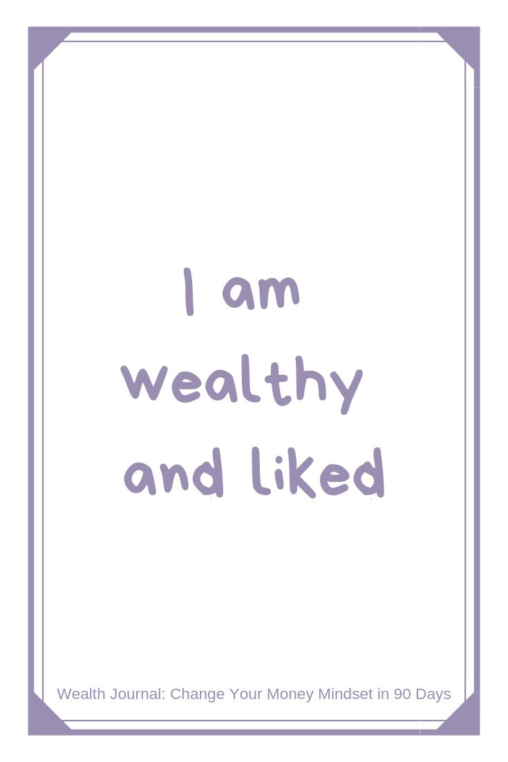 """""""I am wealthy and liked"""" Wealth affirmation to cha…"""