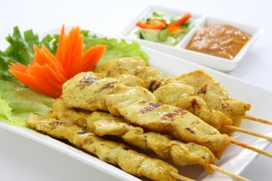 Chicken Satay Recipe (Satay Gai) healthy-recipes: Peanut, Street Food, Yummy Recipe, Thai Food Recipe, Satay Chicken, Food Blog, Thai Chicken Satay Recipe, Thai Grilled Chicken Thighs, Recipe Chicken