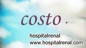 El costo aproximado de trasplante de riñón tiende a disminuir en los últimos años, debido a que muchos hospitales en el mundo pueden hacer esta cirugía.Sin embargo, todavía es una operación costosa para la mayoría de los pacientes con insuficiencia renal.