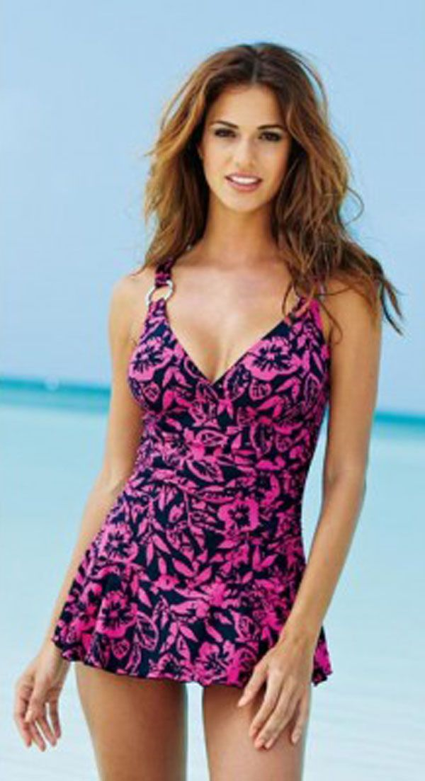 Large plus size swimsuits in cute prints - good for women over 40, 50, 60 - CLICK TO READ ARTICLE: http://boomerinas.com/2012/11/large-plus-size-bathing-suits-in-cute-prints/
